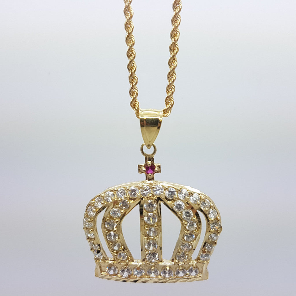 10k Yellow Gold Rope Chain queensmall Necklace - Solid Gold Online