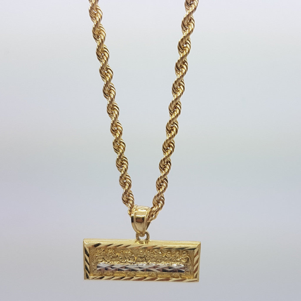 10k Yellow Gold Rope Chain repasmini Necklace - Solid Gold Online