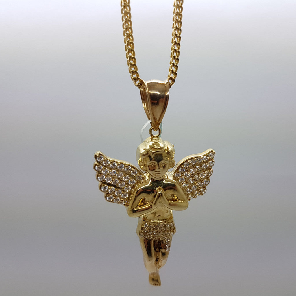 10k Yellow Gold Franco Chain Gabriella Necklace