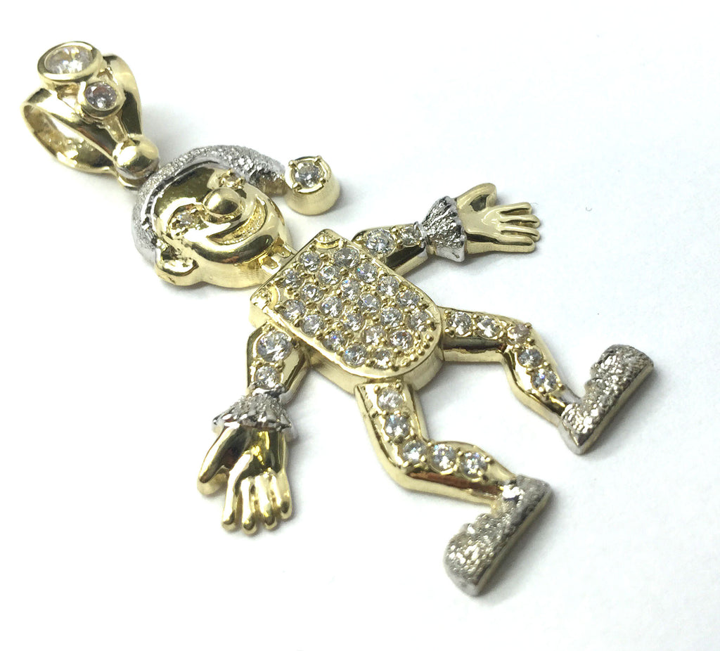 Clown 10K Yellow Gold 6.5 Gr Men Pendant