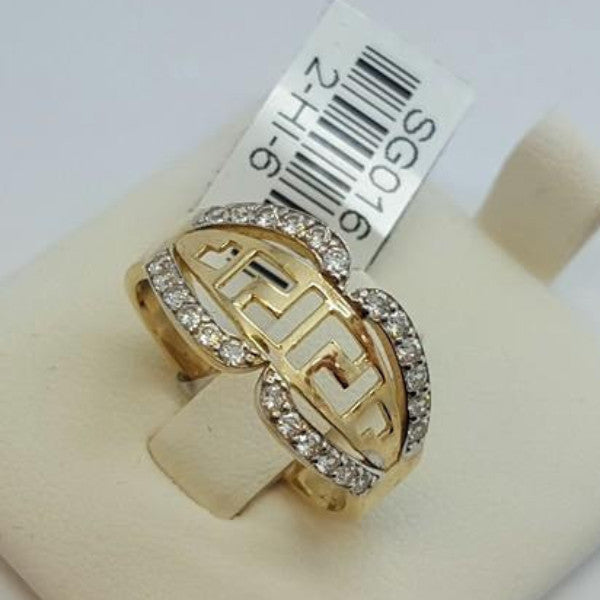 10k Yellow Gold Cubic Zirconia (CZ) Lypsi Round Shape Women Ring - Solid Gold Online