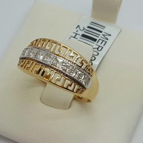 10k Yellow Gold Round Shape Mirta Cubic Zirconia (CZ) Women Ring - Solid Gold Online