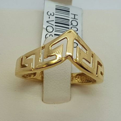 10k Yellow Gold Nicastro Round Shape Ring Cubic Zirconia (CZ) Women Ring