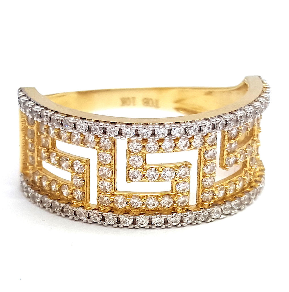 10k Yellow Gold Varadero Round Shape Ring Cubic Zirconia (CZ) Women Ring - Solid Gold Online