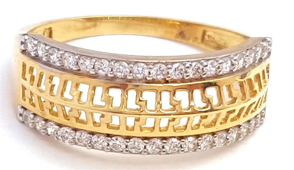10k Yellow Gold Popilita Round Shape Cubic Zirconia (CZ) Women Ring