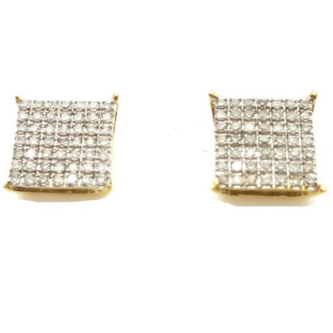 10K Yellow Hallein 0.4 Diamond Gold Earrings
