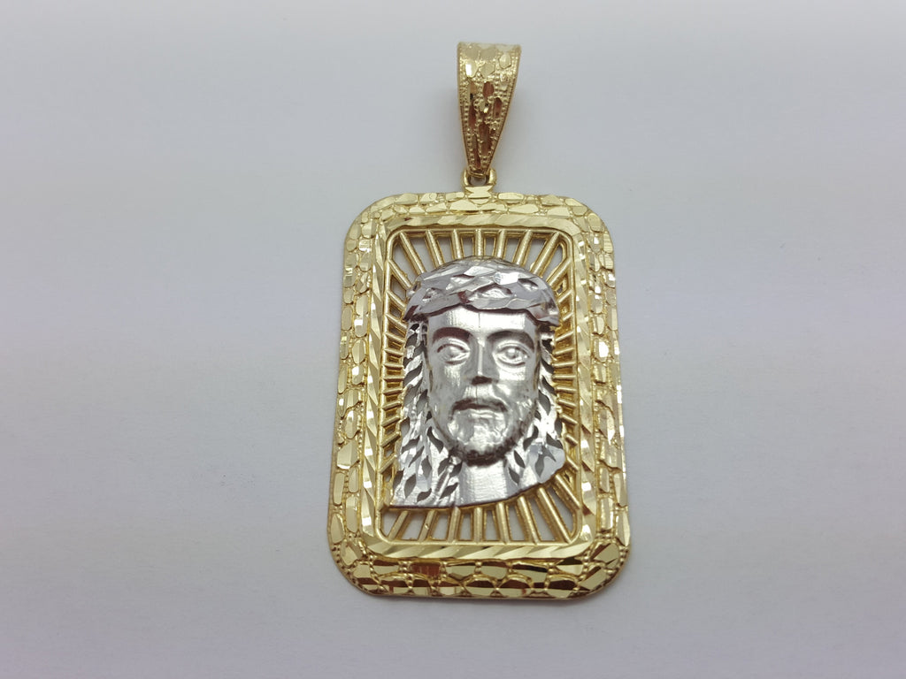 Jesus Modesto 10K Yellow Gold 7.2 Gr Men Pendant