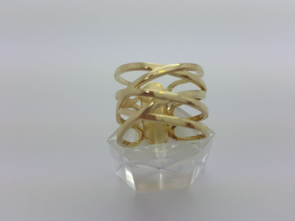 Real Victoria 10K Yellow Solid Gold Women Ring - Solid Gold Online