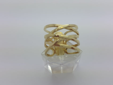 Real Victoria 10K Yellow Solid Gold Women Ring