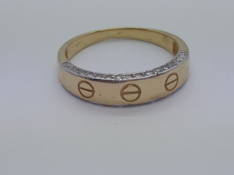Real 10K Yellow Solid Gold Women Ring Alba