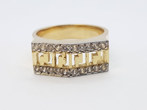 Valeria 10K Solid Yellow Gold Women Ring