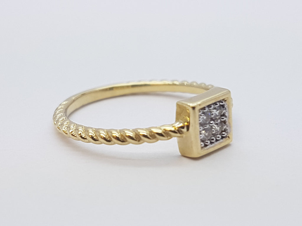Cipriana 10K Yellow Solid Gold Women Ring