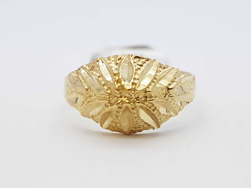 Fioralba 10K Yellow Solid Gold Women Ring