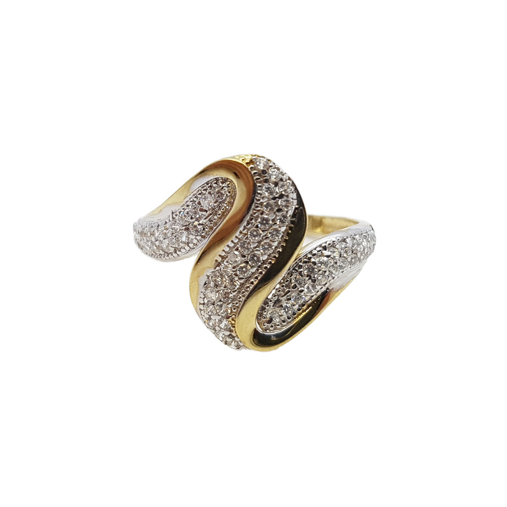 Crocifissa 10K Yellow Solid Gold Fashion Women Ring