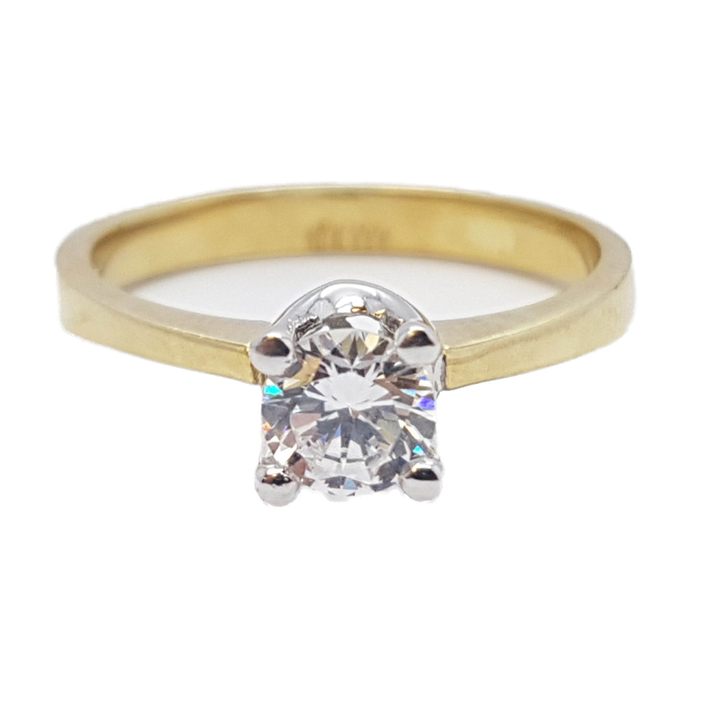 Serafina 10K Solid Yellow Gold Diamond Women Ring