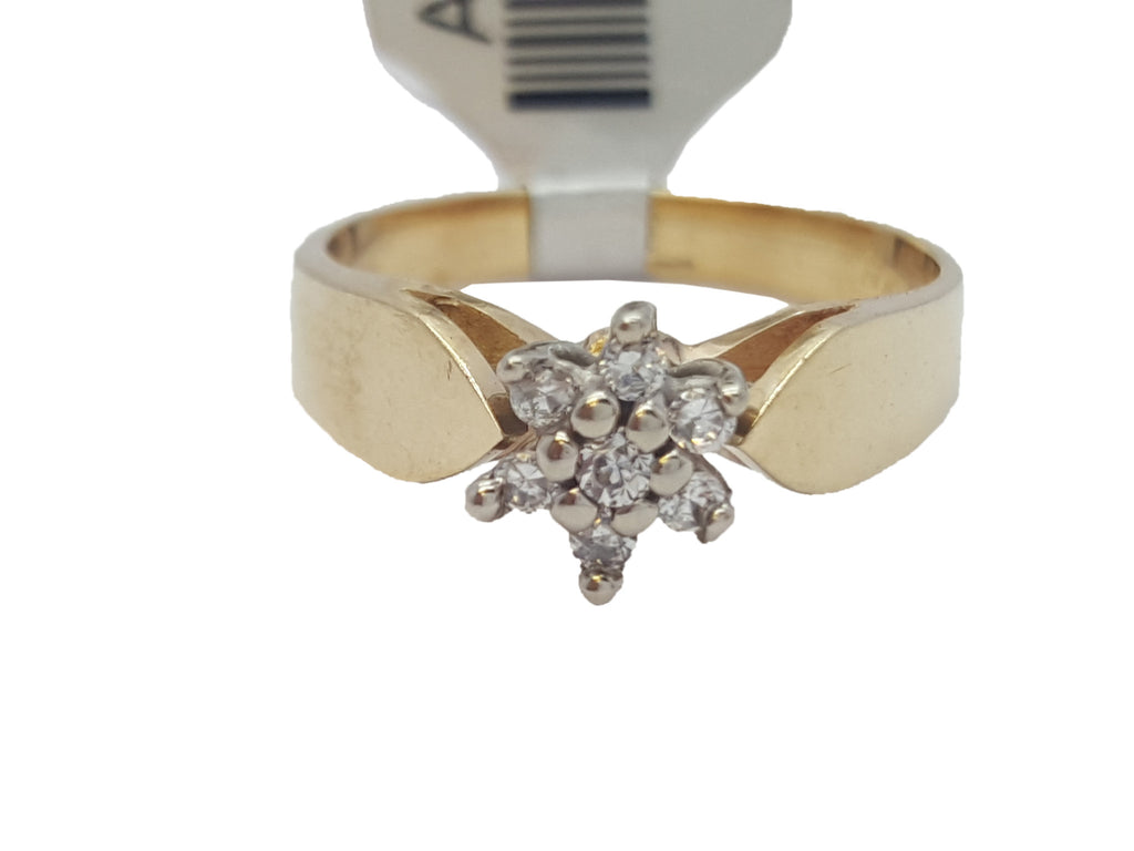 Giovanna 10K Yellow Solid Gold Diamond Women Ring - Solid Gold Online