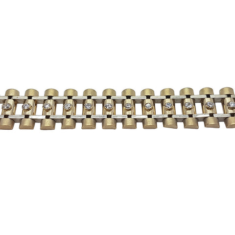 10K Yellow Gold Matheo Bracelet 8.5