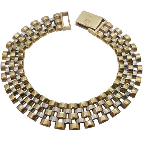 10K Yellow Gold Enzo Bracelet 9.1 - Solid Gold Online