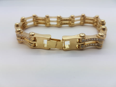 10K Yellow Gold Mathis Chain Bracelet 8.12