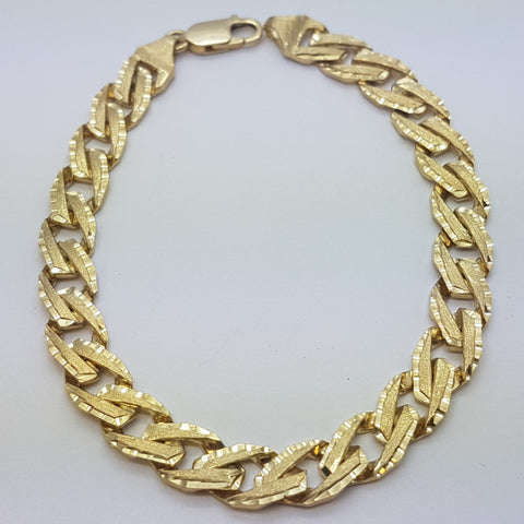 10K Yellow Gold Lucas Bracelet 8.5