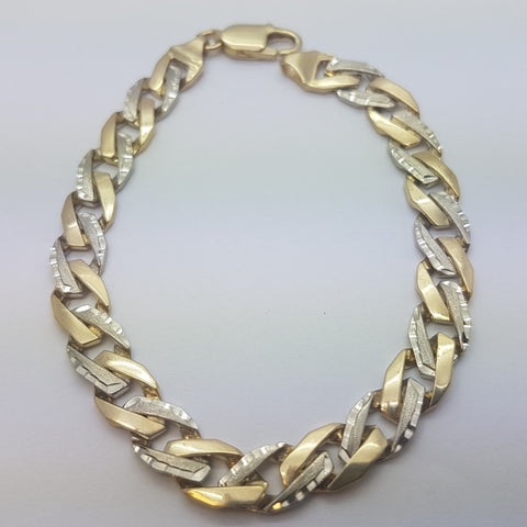 10K Yellow Gold Nathan Bracelet 8.7