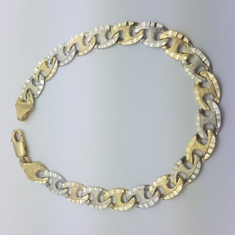 10K Yellow Gold Leon Bracelet 7.9