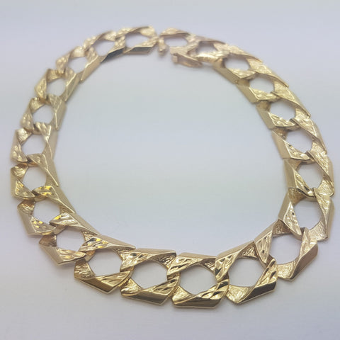 10K Yellow Gold Elias Bracelet 9.2 - Solid Gold Online