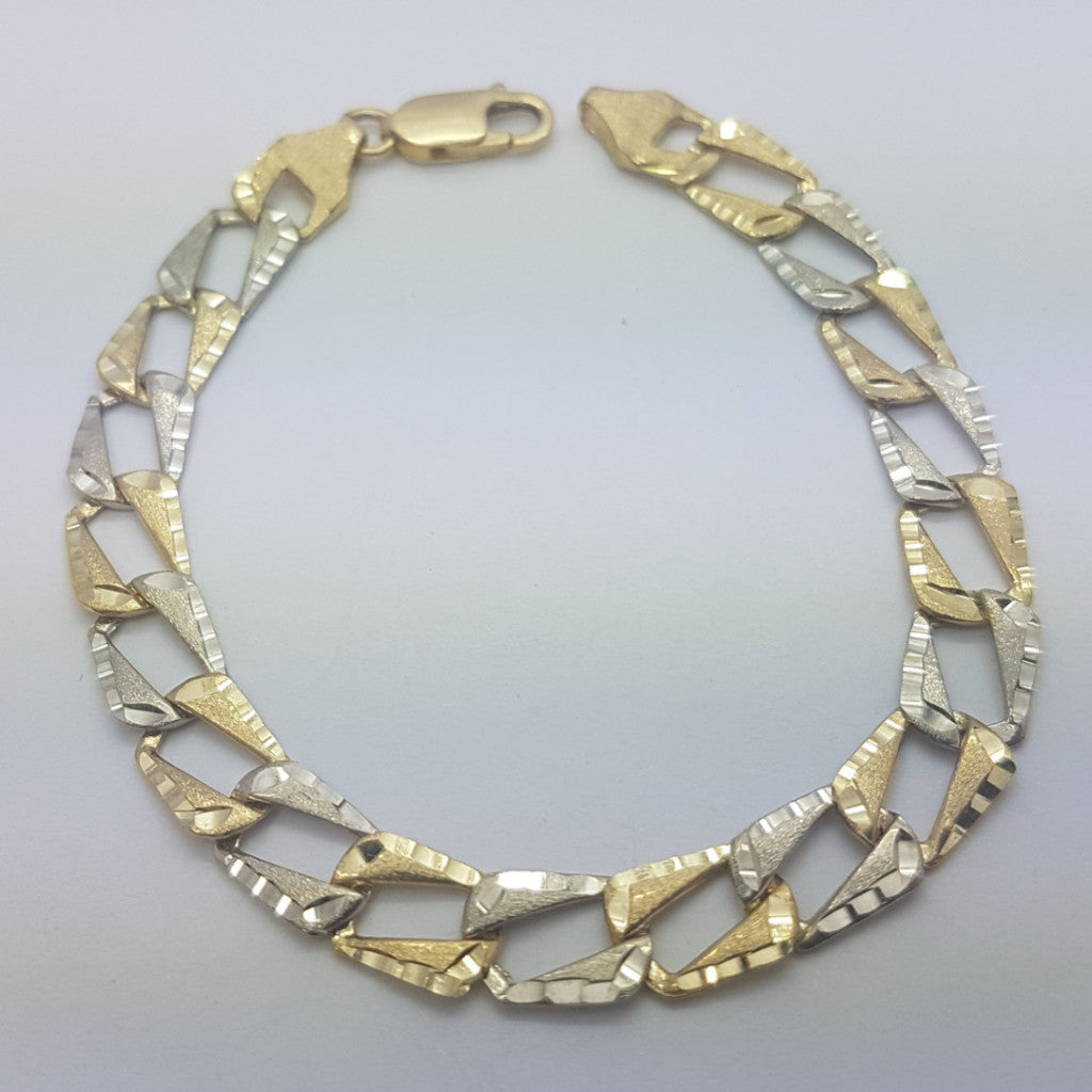 10K yellow Gold Matteo Bracelet 7.8 - Solid Gold Online