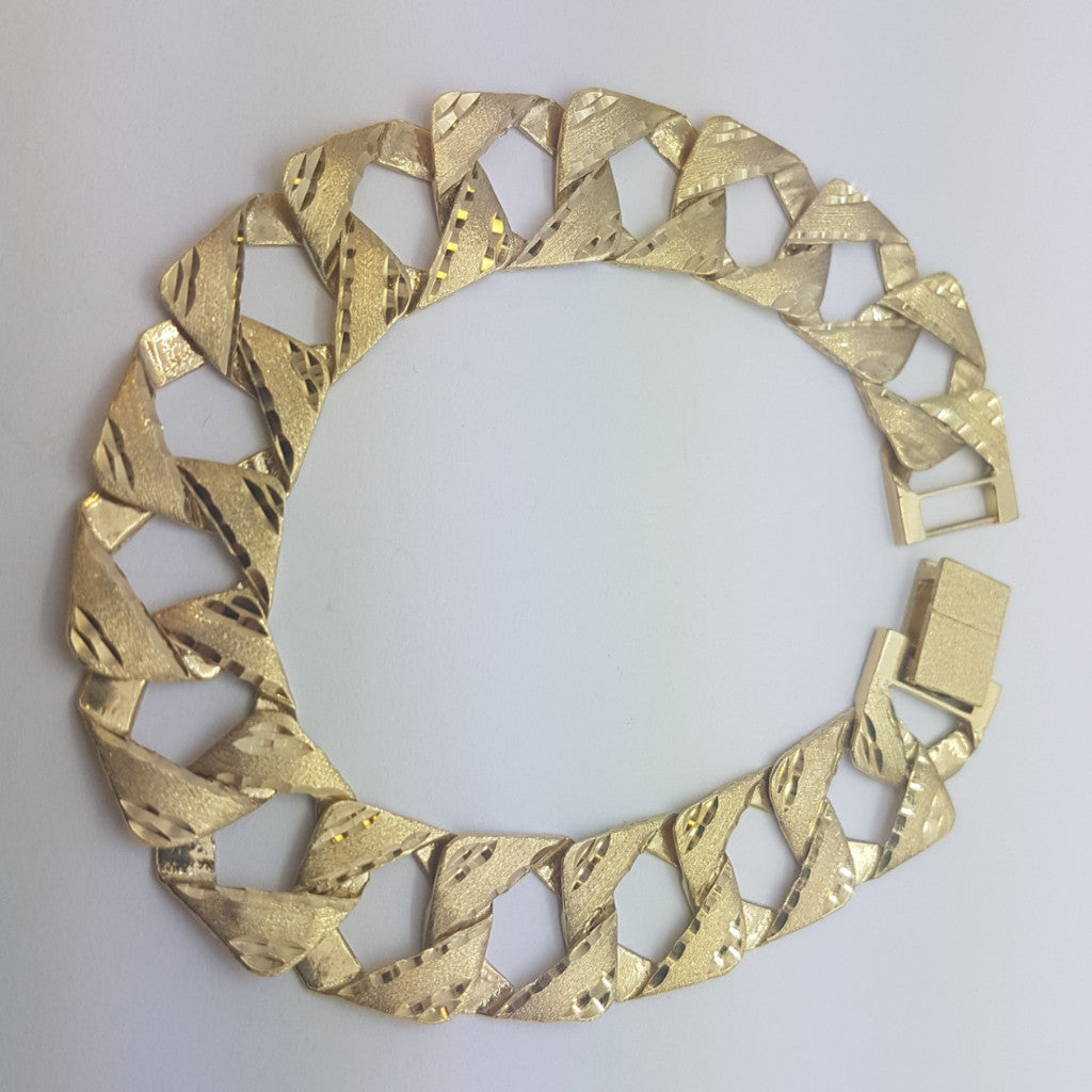 10K yellow Gold George Bracelet 8.12 - Solid Gold Online