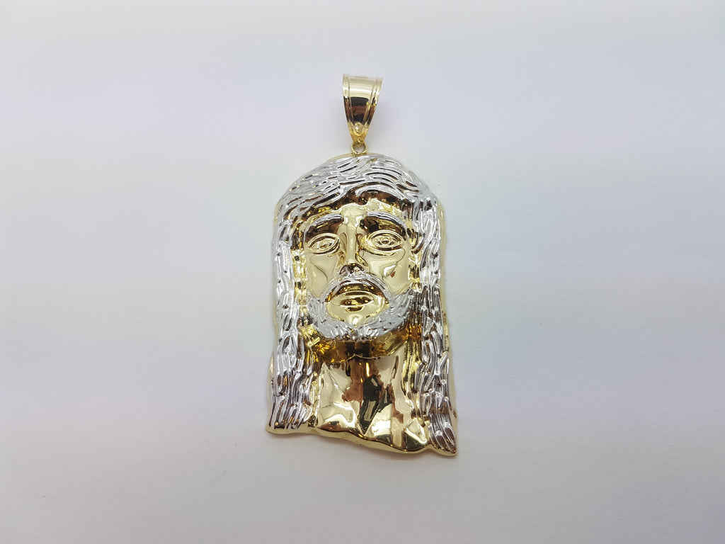 10K Solid Yellow Gold Messiah Christ Men Pendant