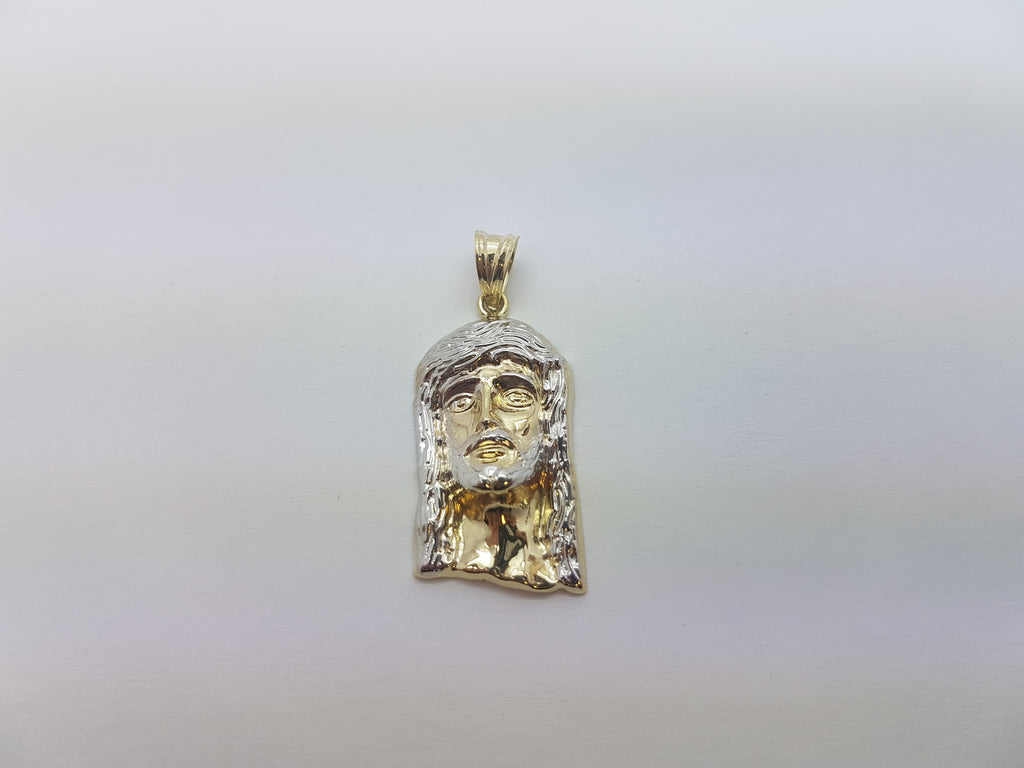 10K Solid Yellow Gold Master Jesus Christ Men Pendant