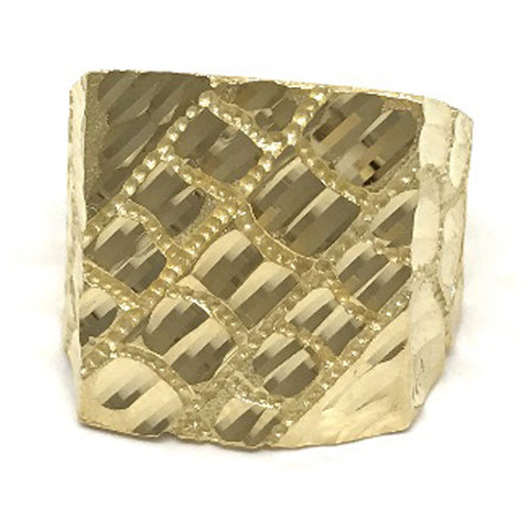 Solid Gold 10K 6.3 Grams Yellow Ring for Men