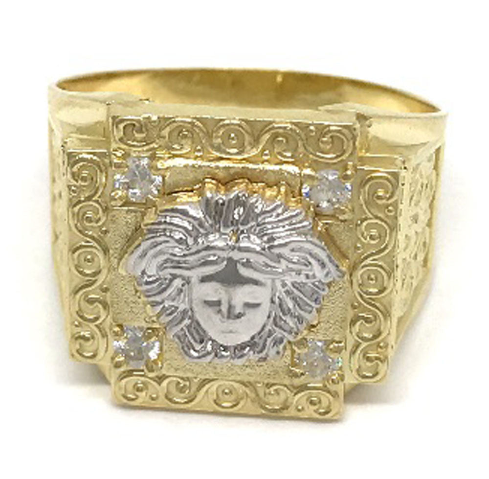 Stylish Solid Gold Medusa Head 10K Yellow Gold 6.5 Grams Ring for Men