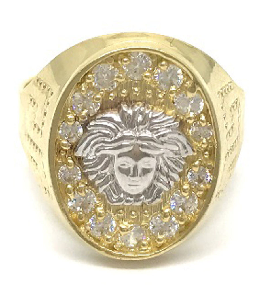 Beautiful Solid Gold Medusa Head 10K Yellow Gold 4.9 Grams Ring for Men - Solid Gold Online
