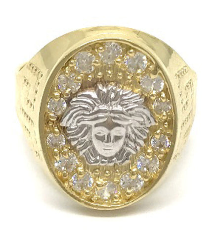 Beautiful Solid Gold Medusa Head 10K Yellow Gold 4.9 Grams Ring for Men