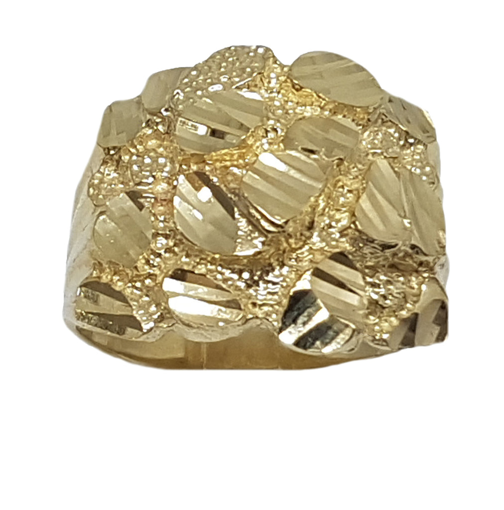 Nugget Style 10K Yellow Gold 6.9 Grams Ring for Men - Solid Gold Online