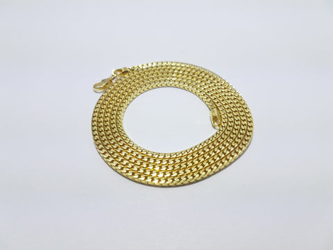 Snake Design 10K Yellow Gold Men Chain