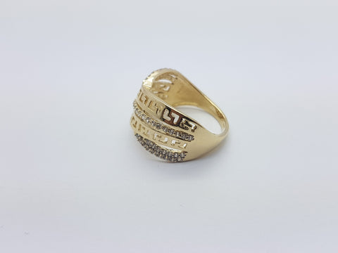 Rolence 10K Yellow Solid Gold Women Ring