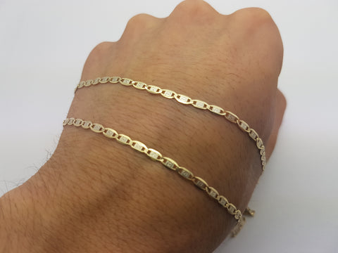 Flat Design 10K Yellow Gold Chain