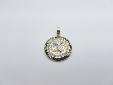 Unique Medusa Head 10K Solid Yellow Gold Men Pendant