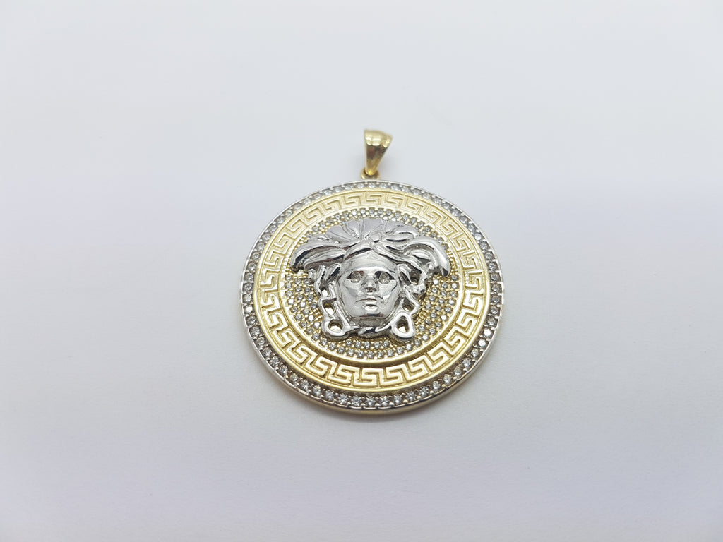 Andria Medusa Head 10K Solid Yellow Gold Men Pendant - Solid Gold Online