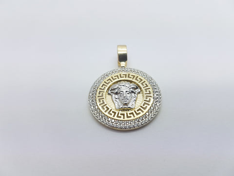 Versace Medusa Head 10K Solid Yellow Gold Men Pendant