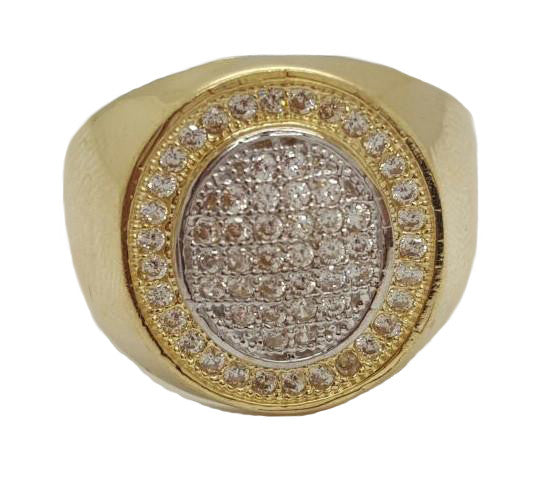 Amadeo 10k Gold 5.73 Grams Men Ring