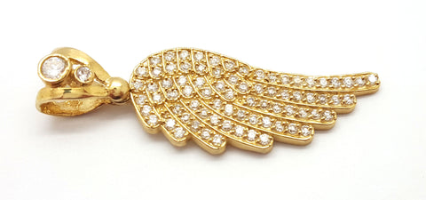 Angel Wing 10K Yellow Gold 5.5 Gr Men Pendant