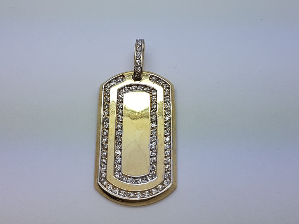 Army Tag 2 10K Yellow Gold 14.9 Gr Men Pendant - Solid Gold Online