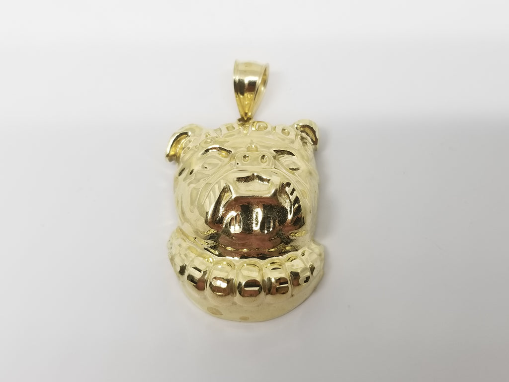 Bull Dog 10K Yellow Gold Men Pendant - Solid Gold Online