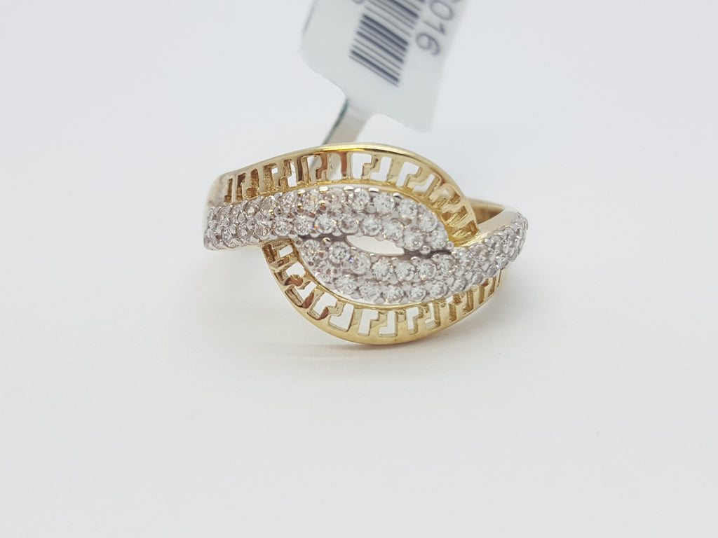 Calogera 10K Yellow Solid Gold Diamond Fashion Women Ring - Solid Gold Online