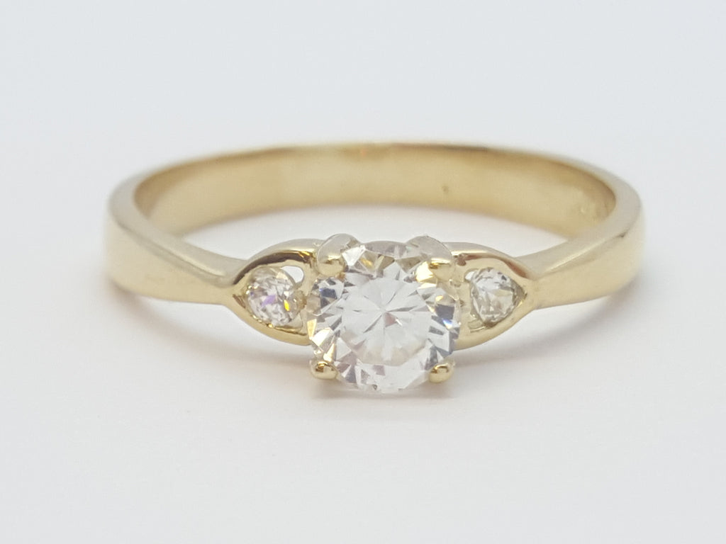 Daniela 10K Yellow Gold Diamond Women Ring