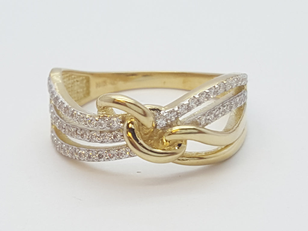 Elisabetta 10K Yellow Gold Diamond Women Ring - Solid Gold Online