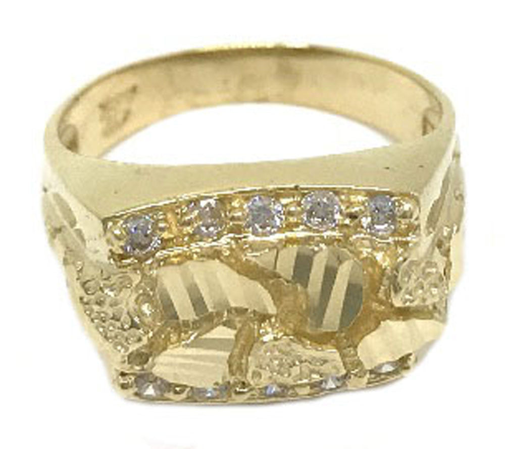 Stylish Solid Gold 10K Yellow Gold 6.0 Grams Ring for Men - Solid Gold Online